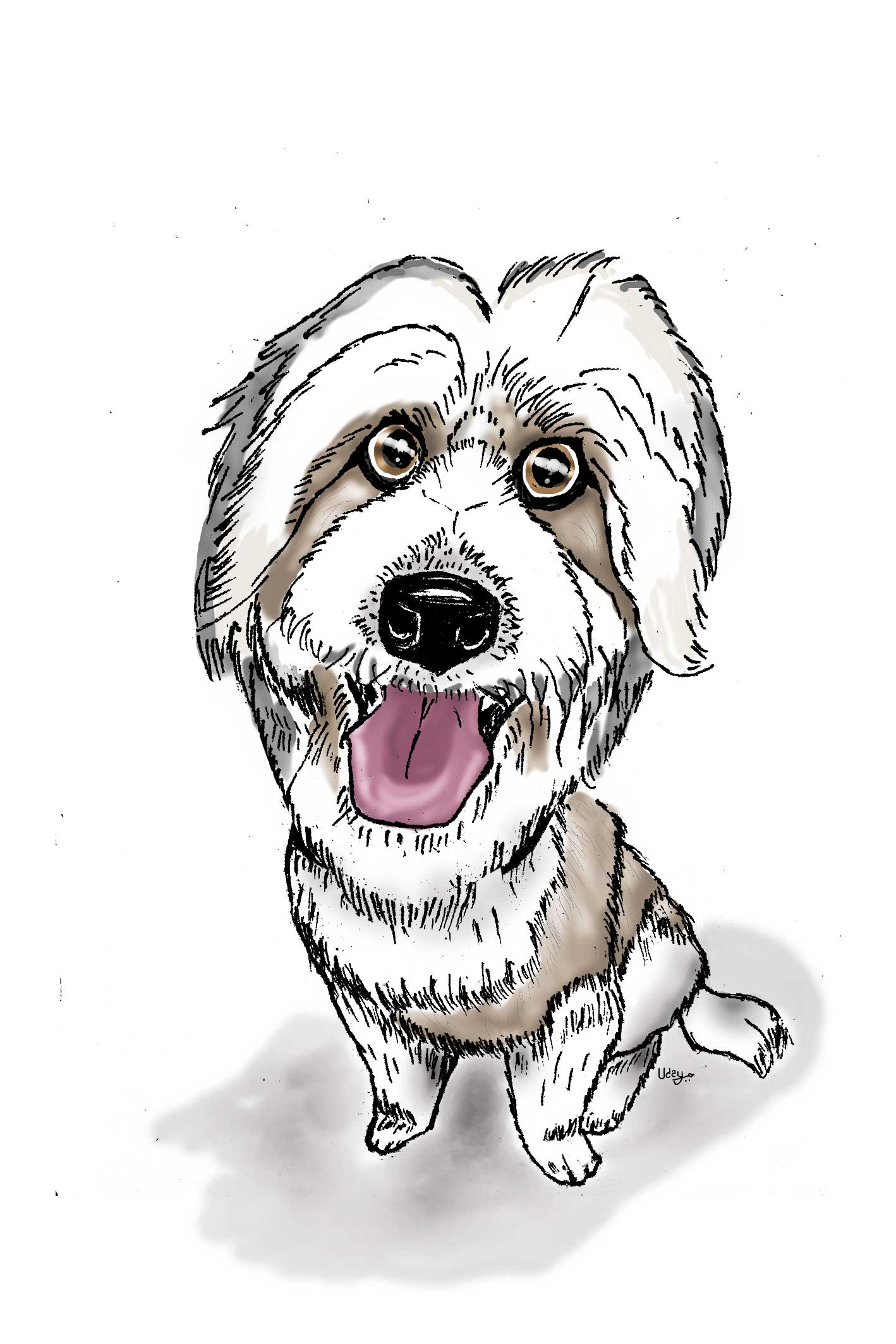 Canine caricature - Digital Painting